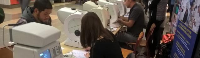 Dépistages visuels : les étudiants de l'ISO sur le terrain